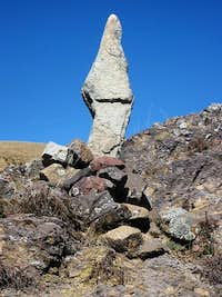 A cairn marking the route - but to where?