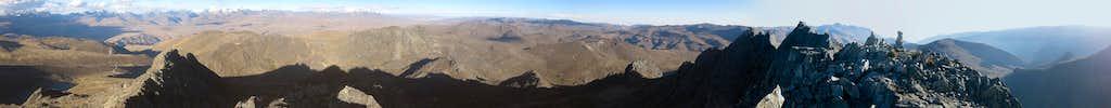 180° panorama from Cerro Huancapeti