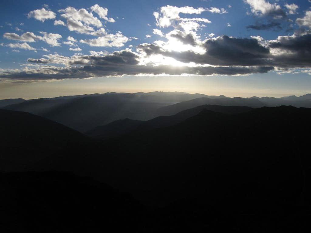 Sunset over the Cordillera Negra