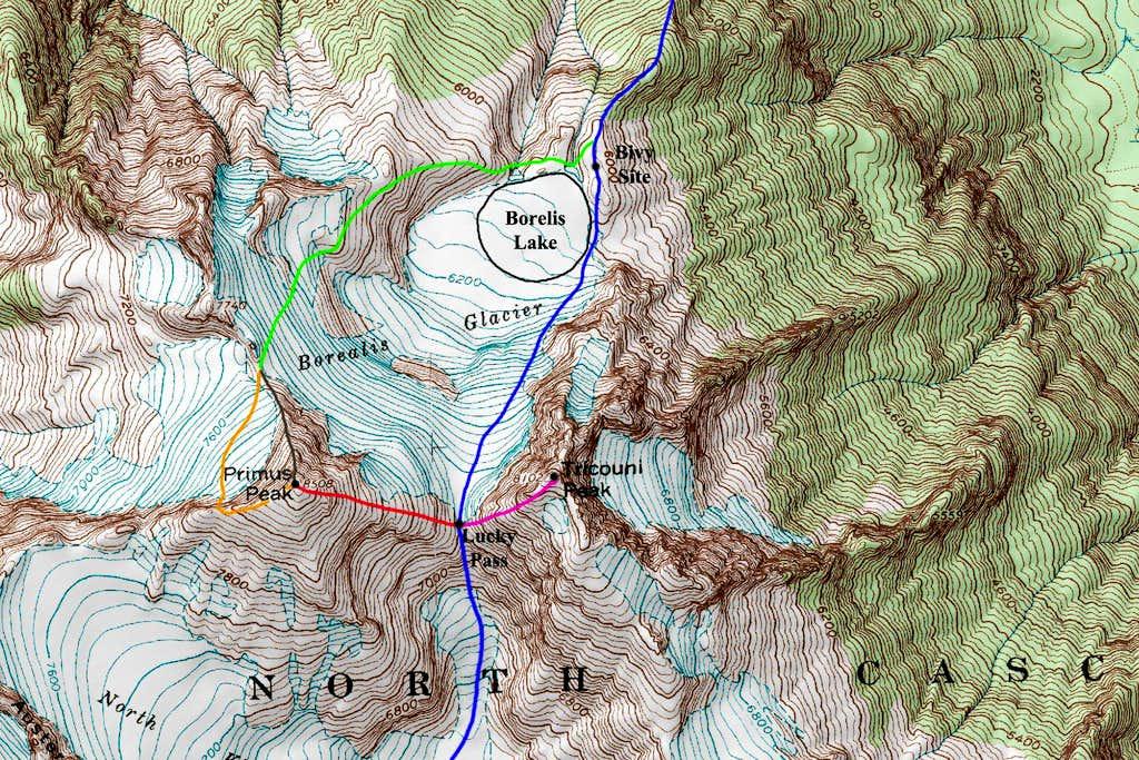 Primus Peak Topo