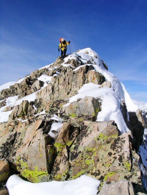 Descending the East Ridge of...