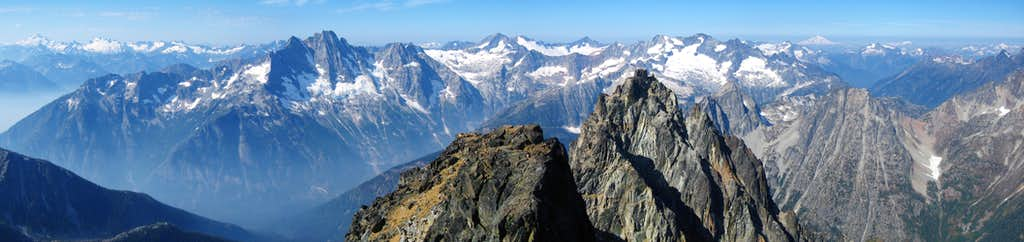 Black Peak summit panorama