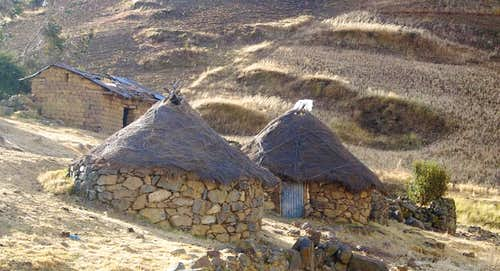 Simple dwellings in the Cordillera Negra