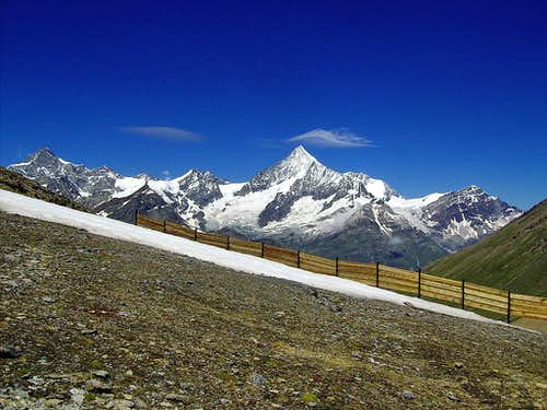Weisshorn and neighbors