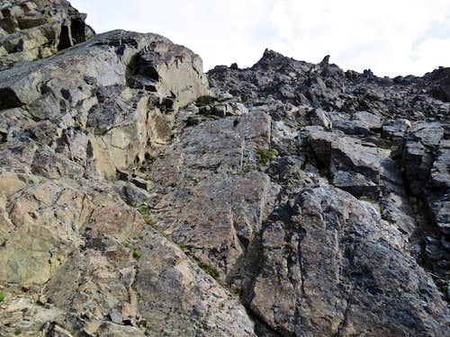 Headed up Mt. Williwaw (flank of NW Ridge)