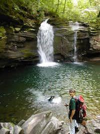Seneca Creek on the trail to...