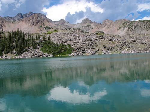Hilgard Lake and the East Ridge of Echo Peak