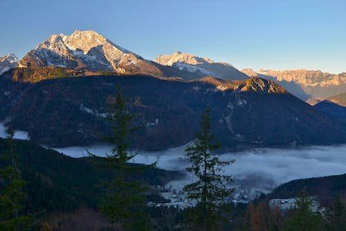 November view to Watzmann and Hochkalter
