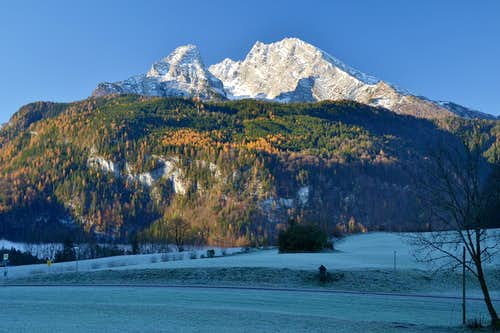 Early morning in November above Schönau-Königssee