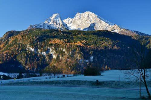 Early morning in November above Schönau-Königssee