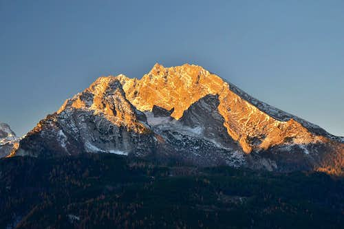 Kleiner and Grosser Watzmann in early morning light