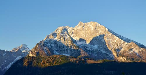 Grosser Hundstod, Kleiner Watzmann and Grosser Watzmann in the early morning