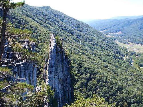 Climbers on Seneca Rocks