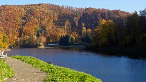 Bystrzyca reservoir from the