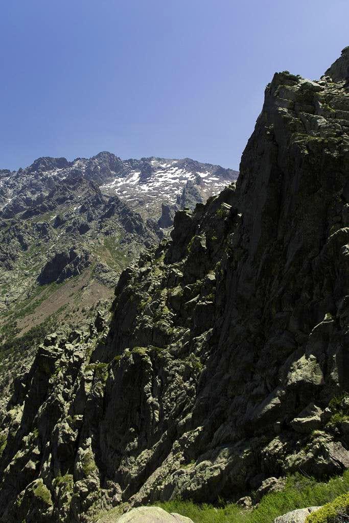 Descending from Bocca di Stagnu