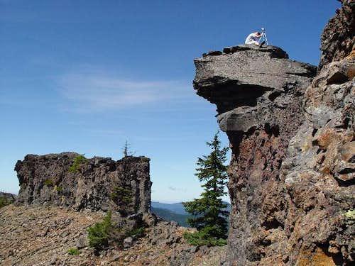 The summit wall. Notice Rick...