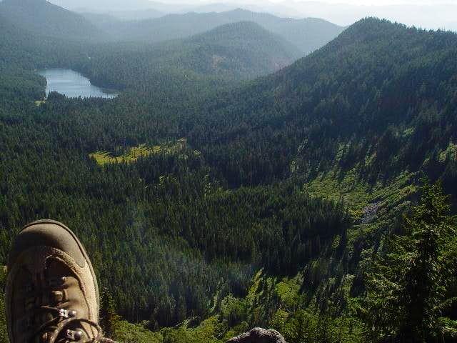 A view of Elk Lake...