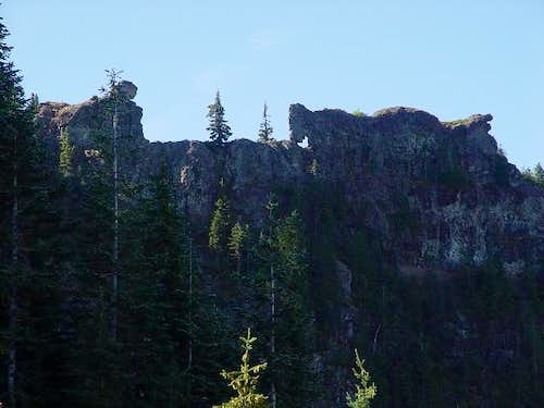 A view of the summit from the...