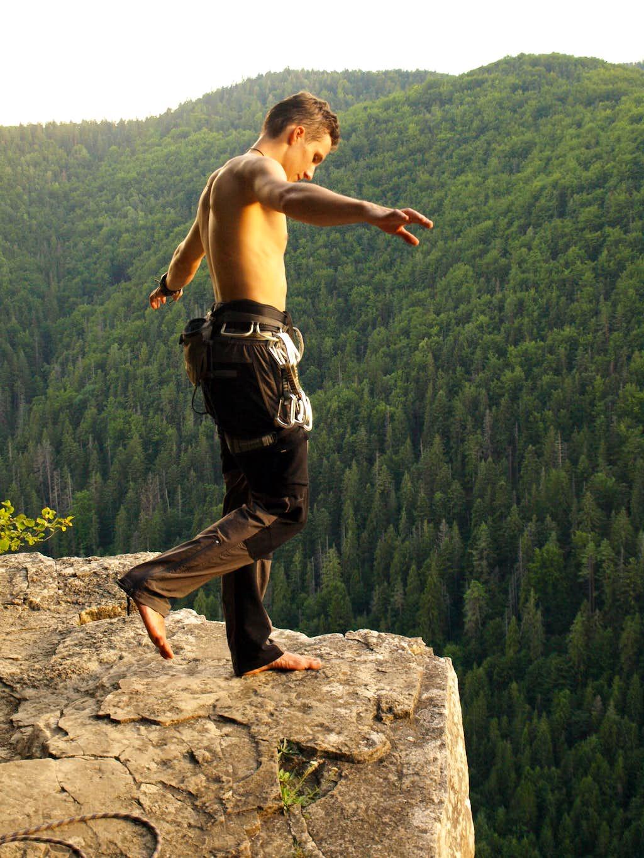 Base jump? Nooo... Climbing! Tomasovi Vyhlad