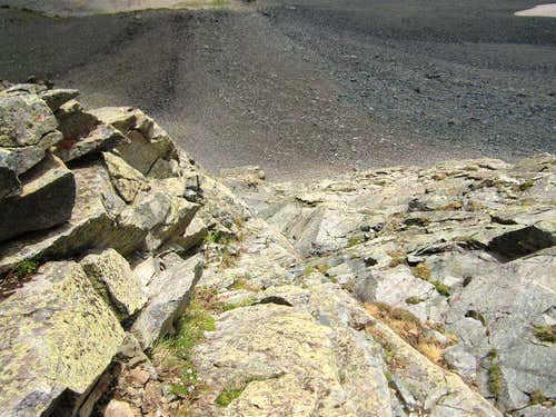 Typical terrain on the \'approach\' climb (crux)