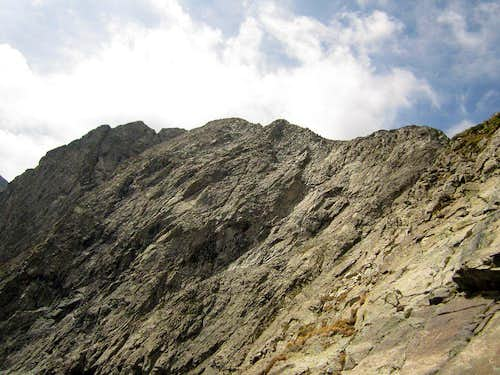 View of the north ridge & typical terrain on the \'approach\' climb
