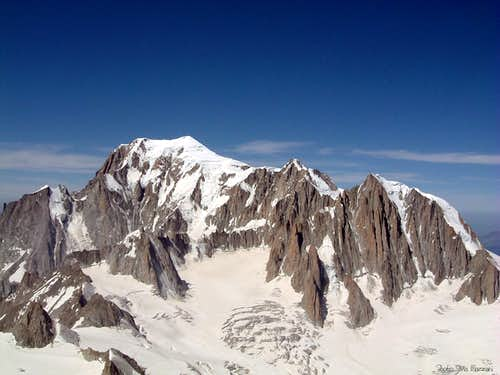 The massif of Mont Blanc, the favourite action-ground of Giancarlo