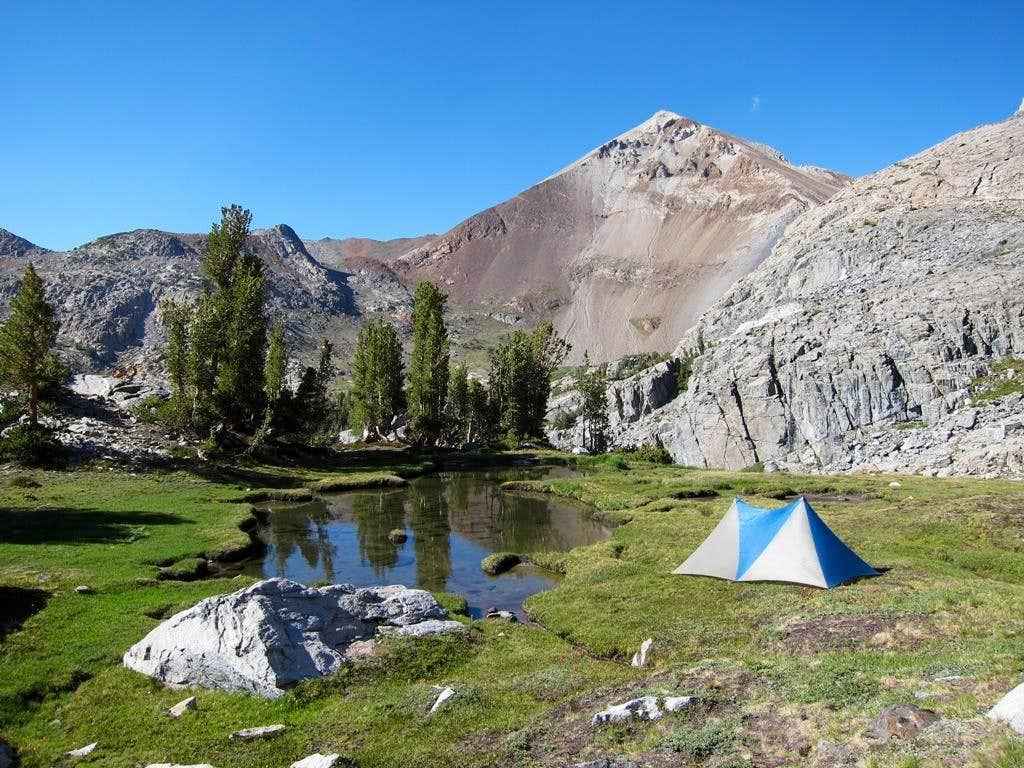Camp above Fish Creek