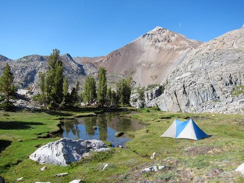 Camp above Fish Creek