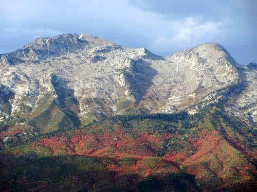 Lone Peak & Bighorn Peak fall colors