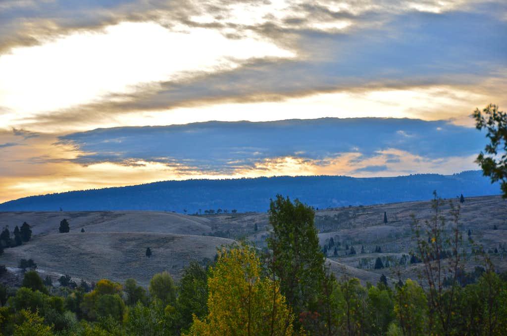 Sunrise near Jackson, Wyoming