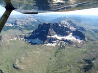 Cutoff Mountain seen from the air-Yellowstone National Park