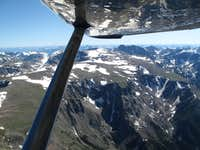 Granite Peak and the central Beartooth Range seen from the air