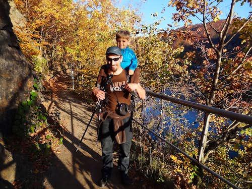 Trail along Bystrzyca reservoir west shore