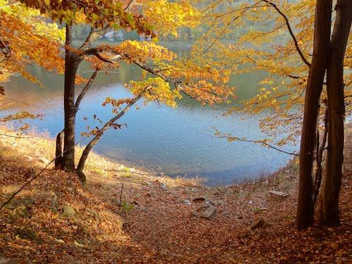 Bystrzyca reservoir from west shore trail
