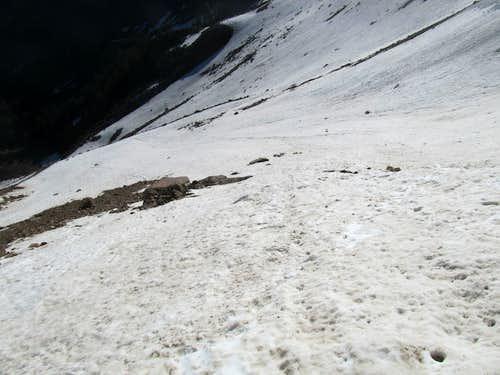 ascending snow slopes