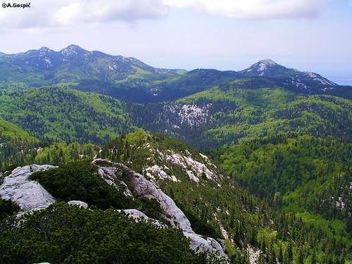 View from the summit of...
