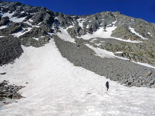 Heading up El Diente Peak