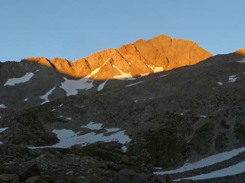 Alpenglow on Gladstone Peak