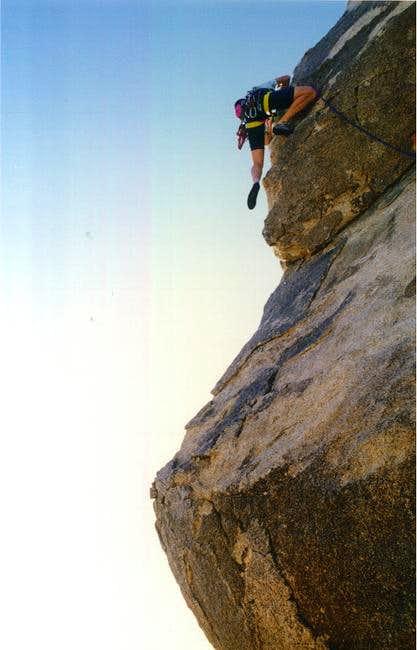 Climbing up the SW Corner,...