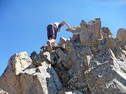 Matt Scrambling on Mount Wilson