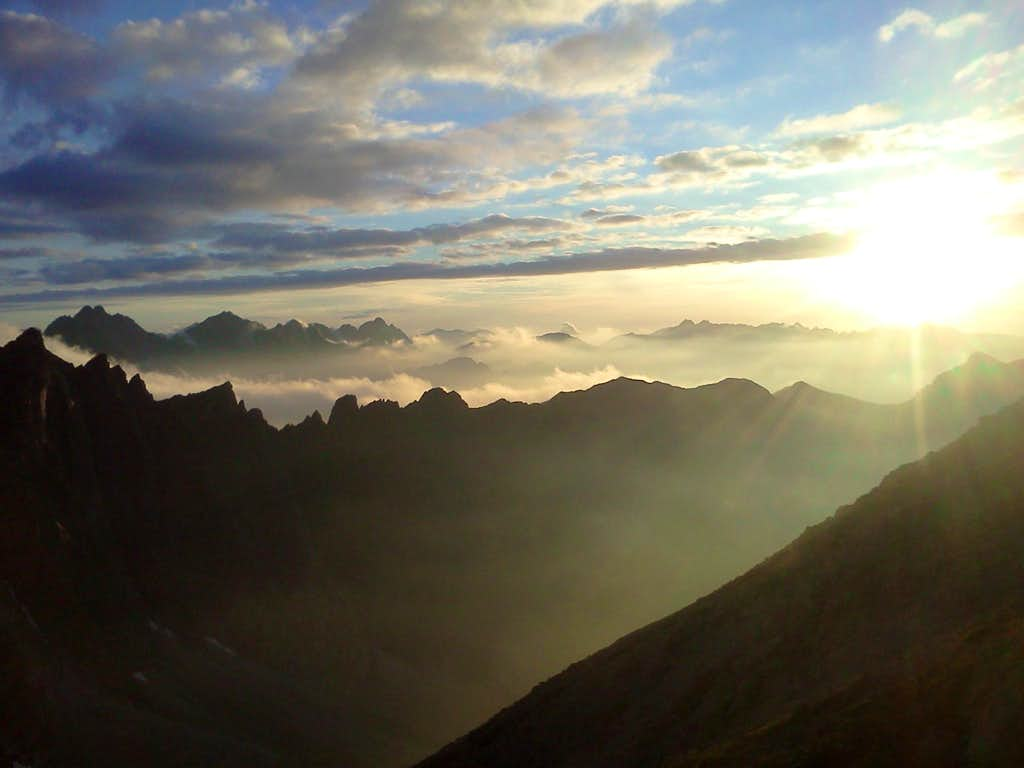 Sunset is coming to the Tatras