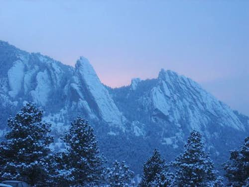 View of the Flatirons from...