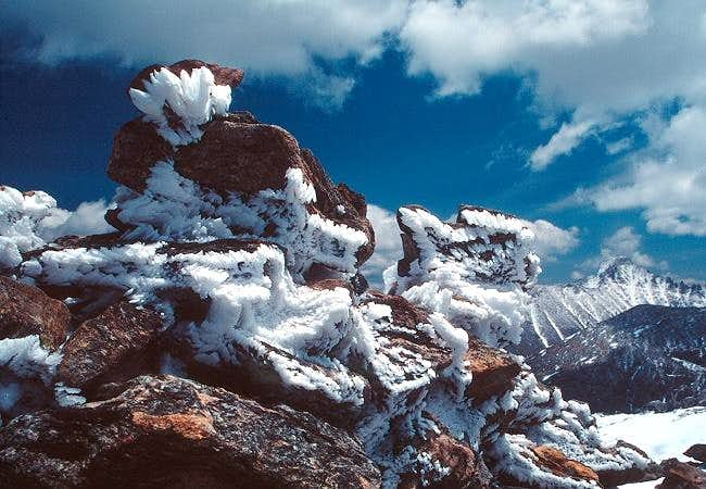 Hoar frost on the summit of...