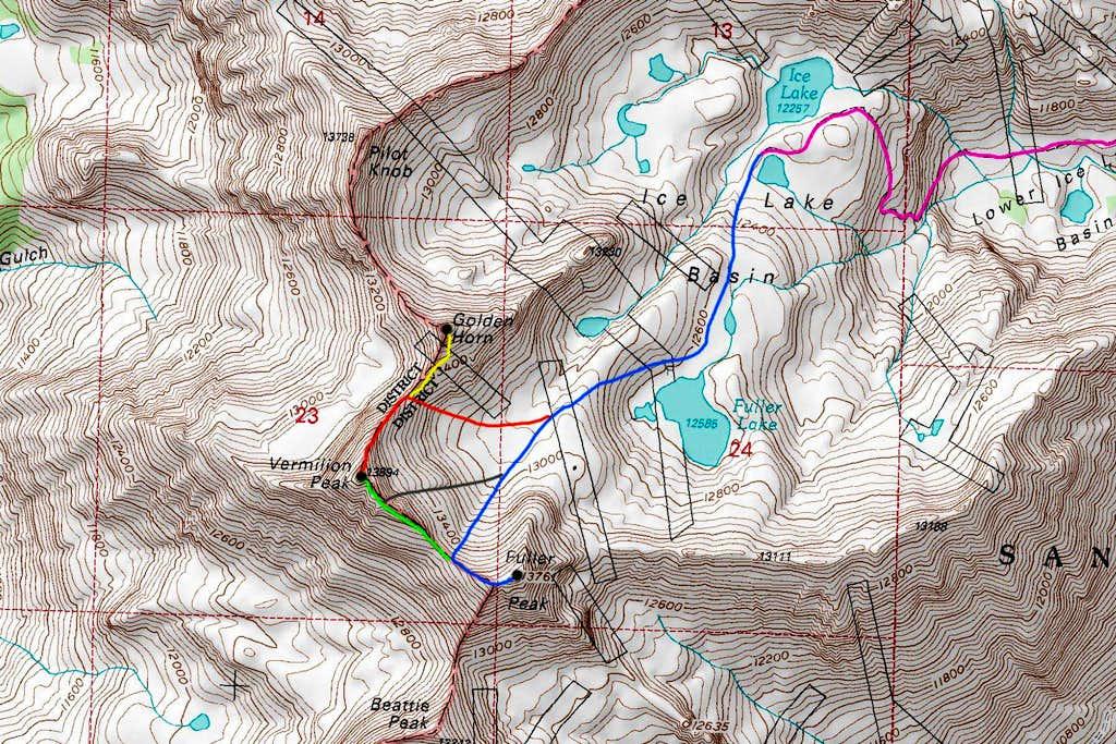 Fuller/Vermilion Peak Map