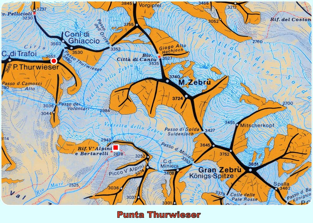 Thurwieser Spitze map