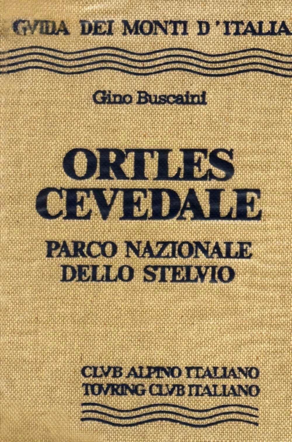 Ortles Cevedale guidebook