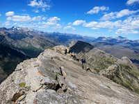Heavens peak north ridge rock slabs
