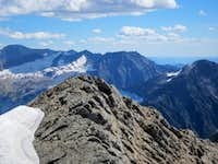 Heavens Peak summit view of the Avalanche Fire