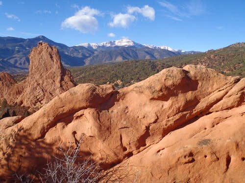 Montezuma s Tower and Pikes Peak