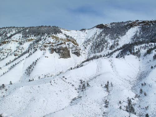 Mount Everts, winter 2012-Yellowstone National Park